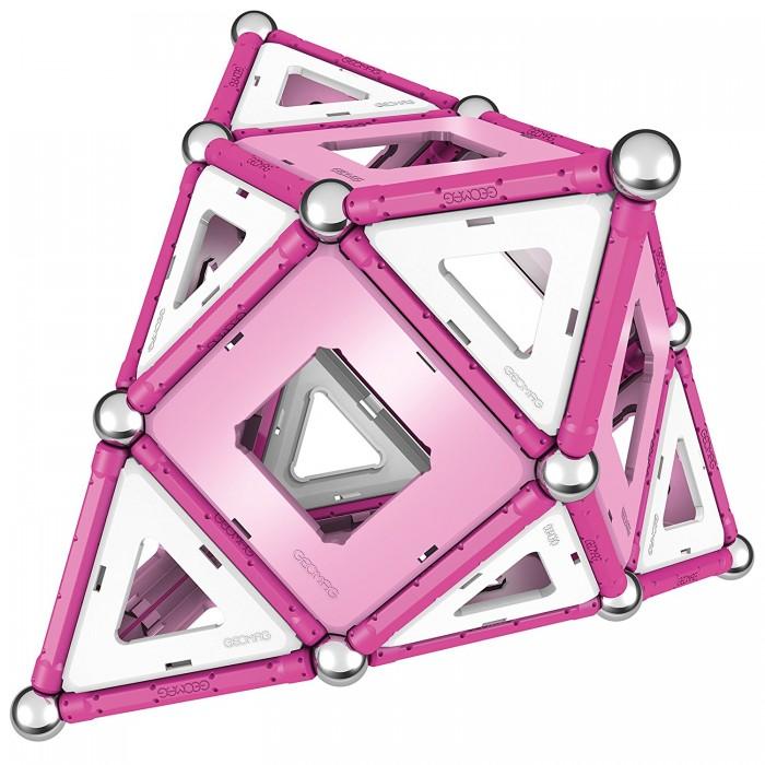 Купить Конструкторы, Конструктор Geomag магнитный Pink 104 детали