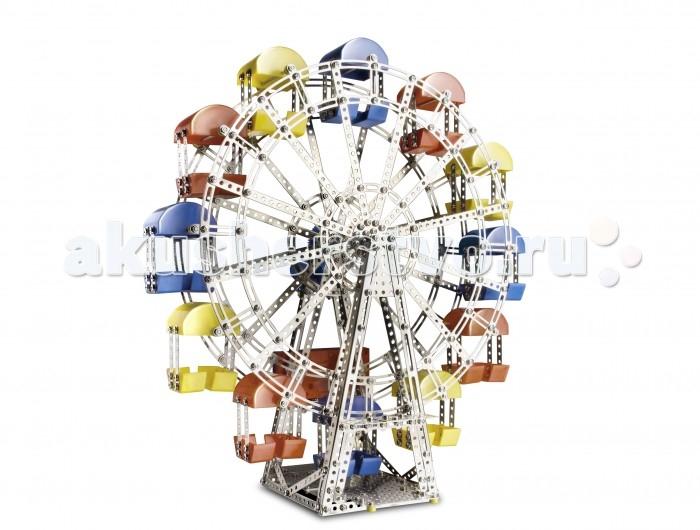 Конструктор Eitech Колесо обозрения 1200 деталейКолесо обозрения 1200 деталейКонструктор Eitech Колесо обозрения 1200 деталей  – 60 сантиметровая электро-механическая модель колеса обозрения.   В набор входят:  1200 деталей конструктора. Комплекта инструментов. Подробная, иллюстрированная инструкция.  Благодаря большому количеству деталей и инструкции, собирать модели интересно и познавательно, а тот факт, что результатом станет самая настоящая игрушка - не сможет не порадовать юного инженера.   Содержит мелкие детали, поэтому рекомендуемый возраст - от 8 лет.  Подобное занятие сможет не только надолго заинтересовать малыша, но, быть может, стать началом сбора целой коллекции различных красивых и необычных металлических фигурок!<br>
