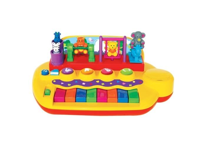 Музыкальные игрушки Kiddieland Пианино с животными на качелях