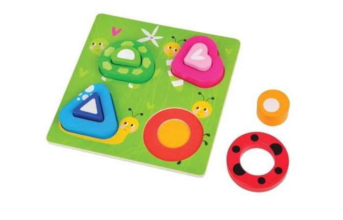 Деревянные игрушки Mapacha Вкладыши Полянка суперпредложение набор грибов домашняя полянка из 5 упаковок