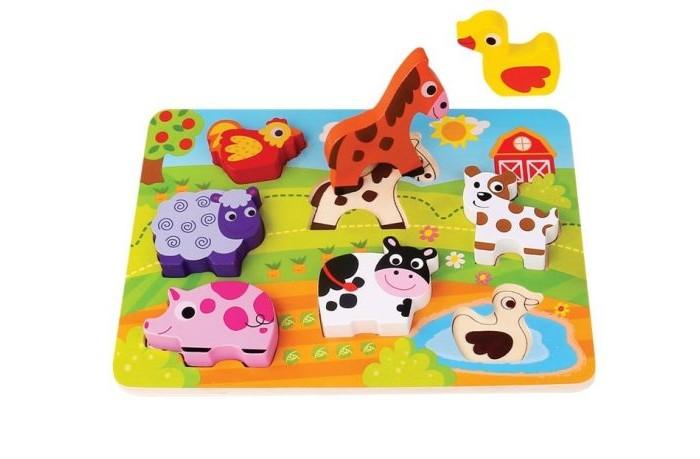 Деревянные игрушки Mapacha Вкладыши-фигурки Животные фигурки игрушки prostotoys шер хан табаки маугли