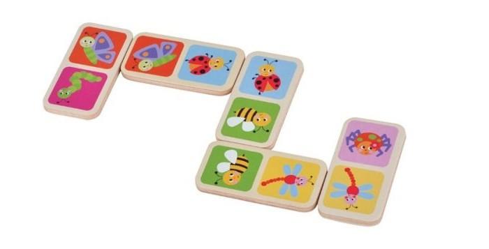 Деревянные игрушки Mapacha Домино Бабочки деревянные игрушки теремок пирамидка счетная домино