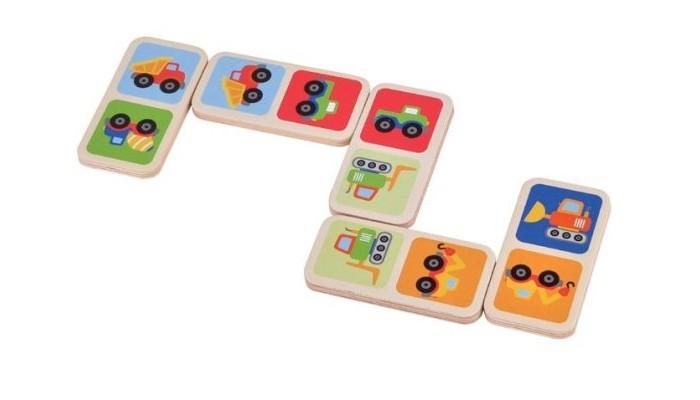 Деревянные игрушки Mapacha Домино Машинки деревянные игрушки теремок пирамидка счетная домино
