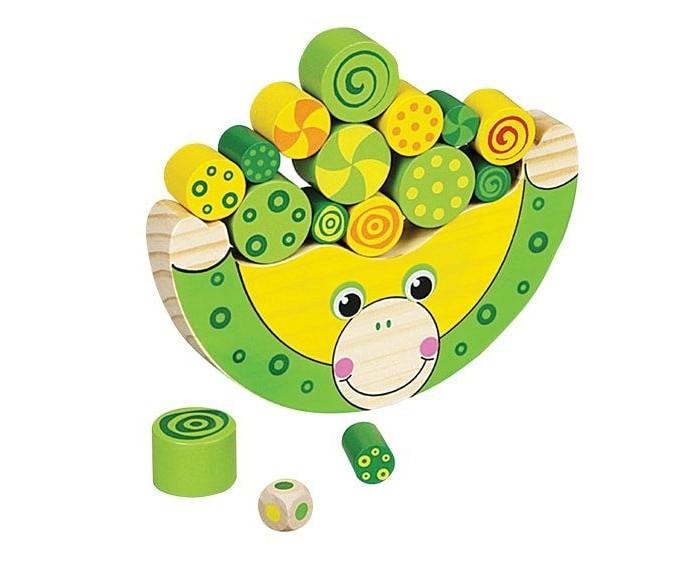 Деревянные игрушки Mapacha Игра-баланс Лягушонок развивающая игра пирамидка малышарики лягушонок