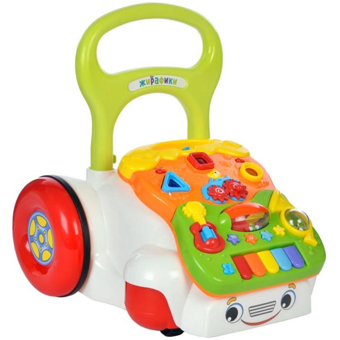 Игровой центр Жирафики СуперкарСуперкарИгровой центр Жирафики Суперкар выглядит очень оригинально и привлекательно, чем определенно порадует малышей.  Особенности: Игрушка выполнена в виде симпатичной машинки с большими задними колесами и ручкой Она оснащена разноцветными кнопочками различных форм и размеров. Также в игровой центр встроен звуковой модуль Малыши с удовольствием будут нажимать на кнопочки, благодаря чему будут воспроизводиться различные звуки Дети смогут толкать машинку за ручку, представляя себя водителями Такая игрушка позволит детям в игровой форме развивать мелкую моторику рук, а также звуковое и цветовое восприятие.<br>