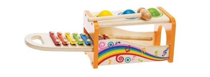 Деревянные игрушки Mapacha Игра-стучалка Волшебные ноты с ксилофоном
