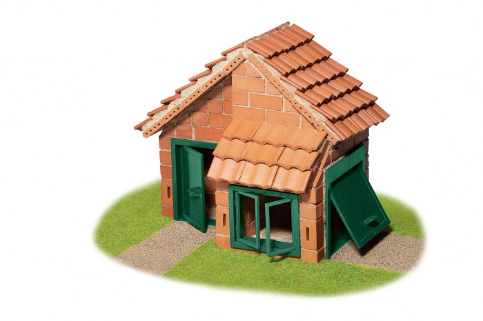 Купить Сборные модели, Teifoc Строительный набор Дом с черепичной крышей 200 деталей