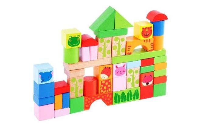 цена на Деревянные игрушки Mapacha Конструктор-сортер в ведре 50 деталей