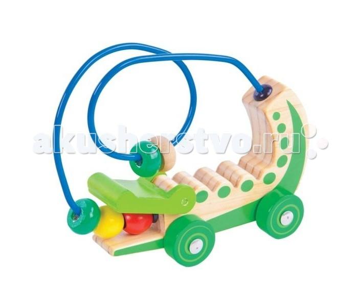 каталки игрушки plan toys каталка танцующий крокодил Деревянные игрушки Mapacha Лабиринт-каталка Крокодил 76680