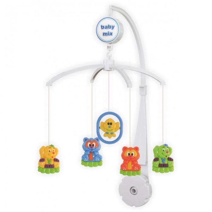 Мобиль Baby Mix Птичка и звери ALE-21300Птичка и звери ALE-21300Музыкальная карусель Baby Mix Птичка и звери ALE-21300 предназначена как для младенцев, которые будут слушать нежную музыку и засыпать под нее, так и для деток постарше, когда они уже наблюдают за движением фигурок, берут игрушки ручками, рассматривают их.  Особенности: изготавливается из высококачественных материалов надежно крепится на детскую кроватку крохе понравится наблюдать за вращающимися игрушками: он научится фокусировать взгляд на движущемся предмете игрушки выполнены в ярких цветовых решениях, рассматривая их, ребенок знакомится с различными цветами, у него развивается внимание, наблюдательность, зрительные способности есть кнопка включения/выключения все элементы музыкальной карусели легко мыть и содержать в чистоте.<br>