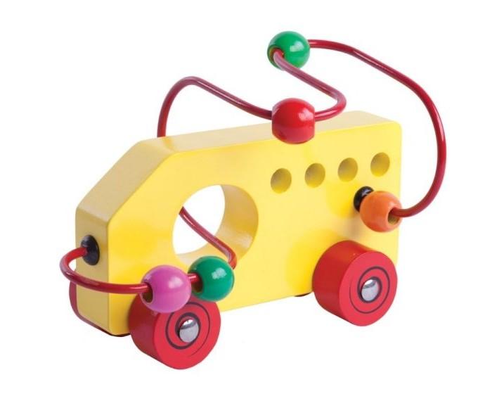 Фото Деревянные игрушки Mapacha Лабиринт-каталка Машинка