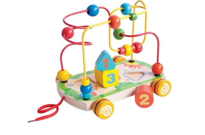 Деревянные игрушки Mapacha Лабиринт-сортер большой на колесиках деревянные игрушки mapacha сортер пирамидка шестеренки
