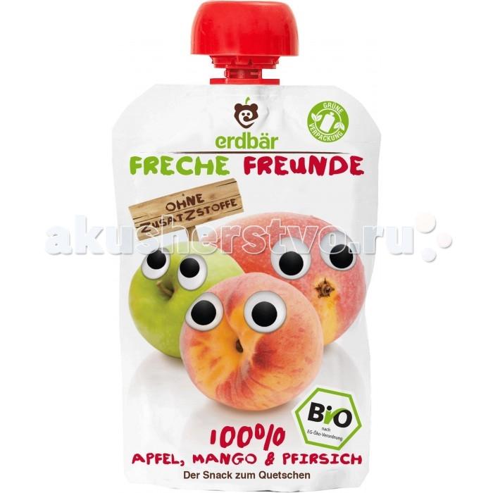 Пюре Freche Freunde Органическое пюре персик манго и яблоко с 12 мес 100 г агуша фруктовое пюре я сам яблоко персик 90 г