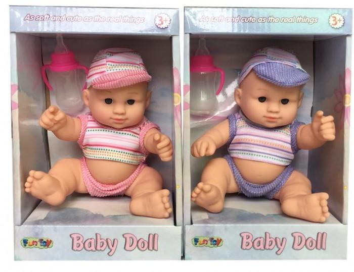 Куклы и одежда для кукол Fun Toy Кукла 1 шт. 44417 пупс с коляской one two fun