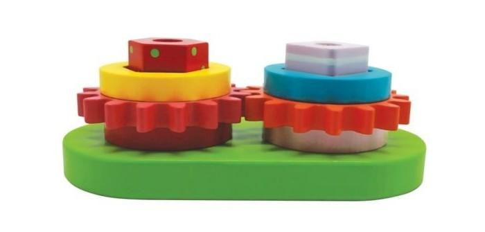 Деревянные игрушки Mapacha Сортер-пирамидка Шестеренки деревянные игрушки теремок пирамидка квадрат