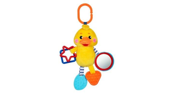 Подвесные игрушки Жирафики с силиконовым прорезывателем и зеркальцем Утенок жирафики развивающая игрушка мишка с силиконовым прорезывателем