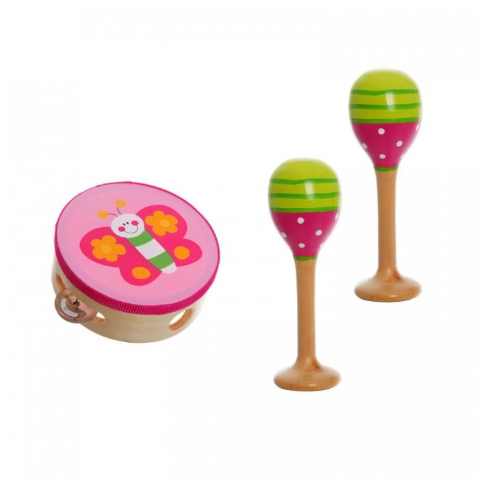 Музыкальные игрушки Bondibon Игровой набор деревянный Юный Музыкант бубен, маракасы bondibon bondibon деревянный конструктор чудо поезд