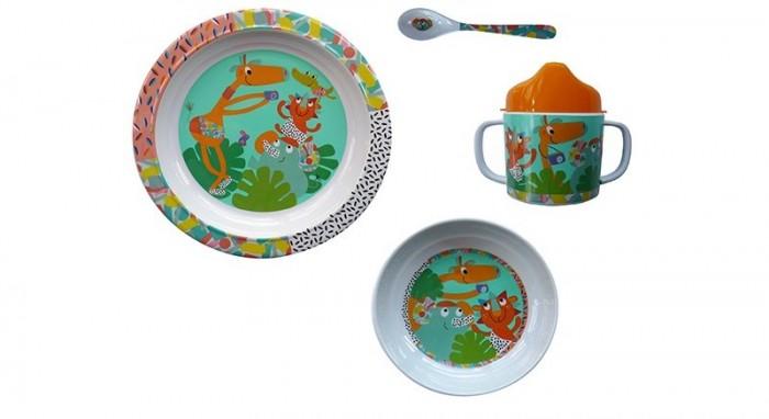 Аксессуары для кормления , Наборы для кормления Ebulobo Набор посуды Зоопарк 4 предмета арт: 398699 -  Наборы для кормления