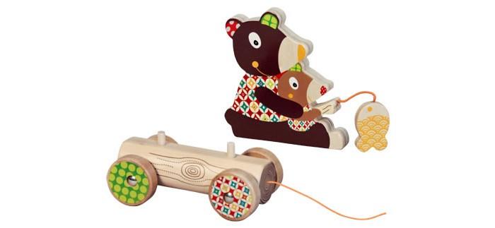 Каталки-игрушки Ebulobo Мишка большая деревянные игрушки ebulobo кубики мишка