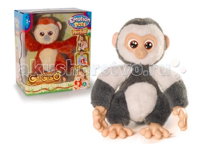 Интерактивная игрушка Giochi Preziosi Обезьяна GPH30270Обезьяна GPH30270Интерактивная игрушка Giochi Preziosi Обезьяна GPH30270 - невероятно милая и симпатичная обезьянка с очень дружелюбным и весёлым нравом. Обезьянка любит озорничать, она двигает хвостиком, умеет сворачивать хвостик в колечко, а при желании, может зацепиться за него и повиснуть. Интерактивная обезьянка реагирует на прикосновение к животику и голове, имеет приятную шерстку и очень любит обниматься, достаточно просто соединить ее ручки и ножки. Также можно кормить обезьянку, и она будет чавкать.  Игрушка поможет Вашему малышу стать самостоятельнее, ответственнее, заботливее. Научит сострадать животным и покажет как сложно ухаживать за ними!  Батарейки 3 шт. типа ААА (не входят в комплект).<br>