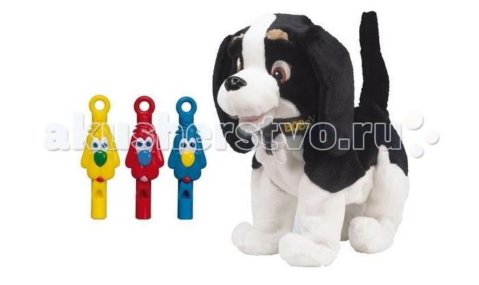 Интерактивная игрушка Giochi Preziosi Собака Bobby GPH00959Собака Bobby GPH00959Интерактивная игрушка Giochi Preziosi Собака Bobby GPH00959 - забавный щенок с повадками настоящего домашнего питомца, который будет верным другом для Вашего ребенка. Он умеет радостно лаять, шевелить ушами и открывать рот. Если его погладить по голове, то песик радуется и благодарно машет хвостом.  Bobby работает в режиме Охрана и Служба.  При помощи 3-х разноцветных свистков, входящих в комплект, можно отдавать интерактивному Бобби команды:  красный свисток – машет хвостом, приветствуя хозяина; синий свисток – начинает двигаться вперед;  желтый свисток – радостно лает, открывая рот и шевеля ушами. На поглаживания по голове щенок Bobby благодарно отвечает помахиваниями хвостика.   При включении режима Охрана, щенок встречает лаем каждого, кто сделает попытку посягнуть на территорию его хозяина (или просто пройдет мимо).  Батарейки 3 х AA 1,5V LR6 (пальчиковые)<br>