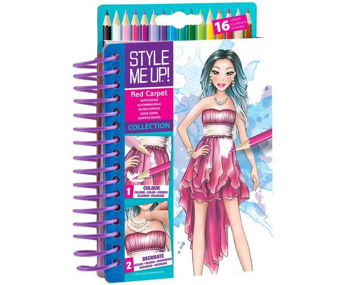 Канцелярия Style Me Up Блокнот дизайнера Красная дорожка набор для творчества style me up блокнот визажиста 1478