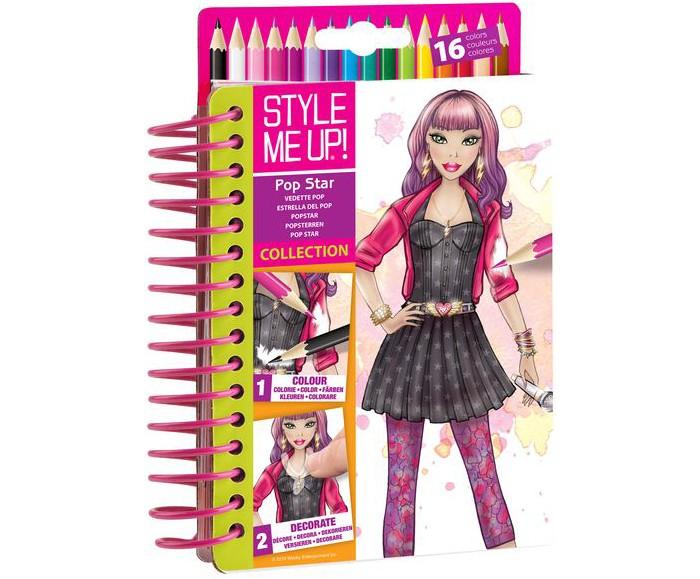 Канцелярия Style Me Up Блокнот дизайнера Звезда сцены альбом дизайнера твой дизайн футболки