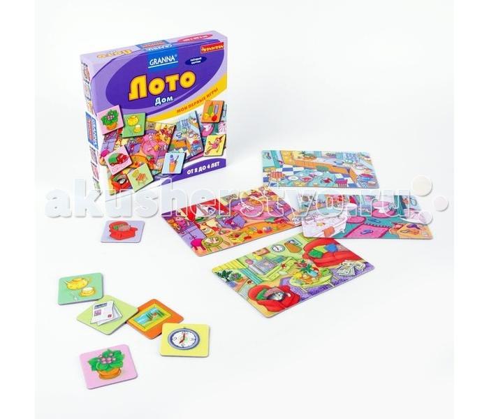 игры и игрушки для детской Настольные игры Bondibon Настольная игра Лото дом Мои первые игры