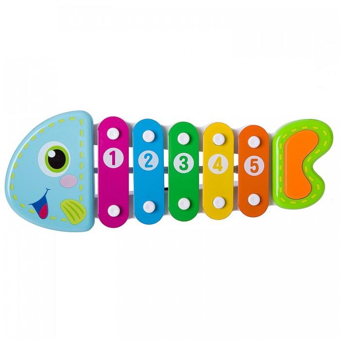 где купить Музыкальные игрушки Bondibon Ксилофон Рыбка 28,5х13х7,5 см по лучшей цене
