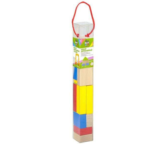 кубики кубики от тетрика игровой набор кубики от тетрика Деревянные игрушки Bondibon Игровой набор  Кубики (14 деталей)