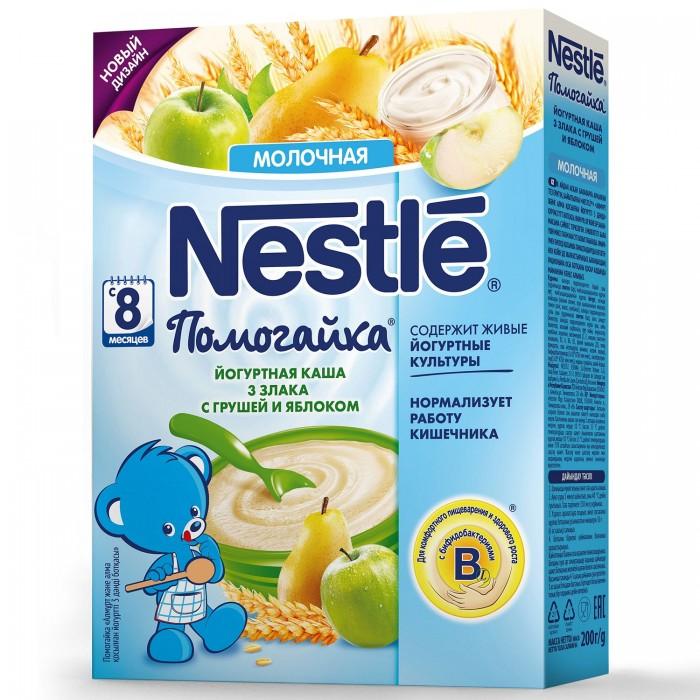 Каши Nestle Каша Помогайка йогуртная 3 злака с грушей и яблоком с 8 мес. 200 г nestle молочко nestle nestogen 3 нестожен 700 г