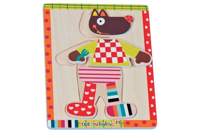 Пазлы Ebulobo Пазл Одень Волчонка каталки игрушки ebulobo мишка большая