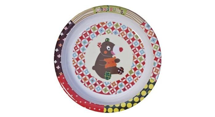Посуда Ebulobo Тарелочка Мишка деревянные игрушки ebulobo кубики мишка