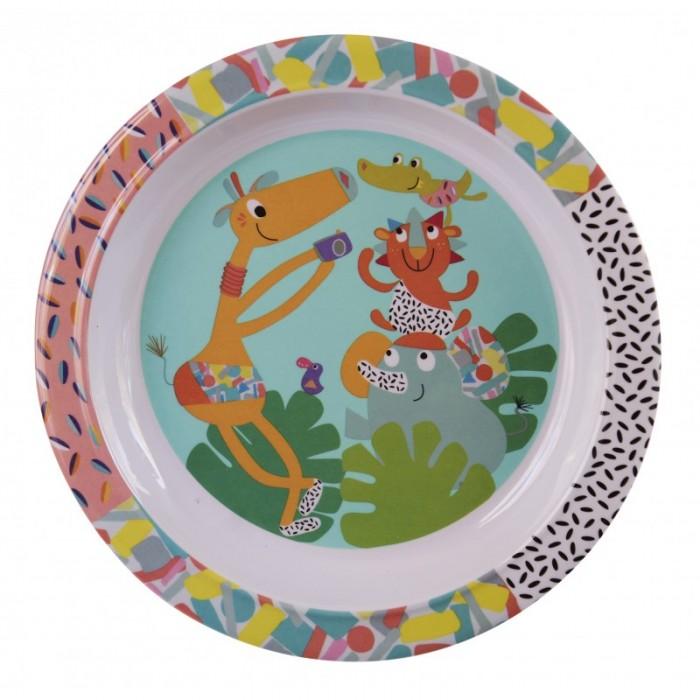 Посуда Ebulobo Тарелочка Зоопарк каталки игрушки ebulobo мишка большая
