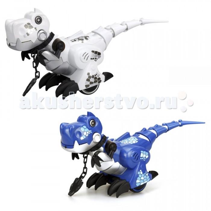 Интерактивная игрушка Silverlit Приручи ДинозавраПриручи ДинозавраSilverlit Приручи Динозавра - эта замечательная интерактивная игрушка позволит ребенку окунуться в удивительный доисторический мир времени существования одних из самых опасных хищников на всей планете.   Игрушка выполнена в виде фигурки динозавра и представлена в двух цветовых вариантах: белом и синем. Интерактивный динозавр изготовлен из качественного пластика с использованием металлических элементов.  Игрушка обладает обширным функционалом, который поддерживается при наличии батареек. Игрушечный динозавр может издавать звуки, имитирующие рычание. При этом срабатывает встроенная подсветка. Управлять игрушкой можно с помощью пульта. Динозавр в точности выполняет заданные команды. Фигурка этого доисторического животного сможет порадовать ребенка и вызвать у него стремление узнать о тех живых существах, которые населяли нашу планету до появления на ней людей.<br>