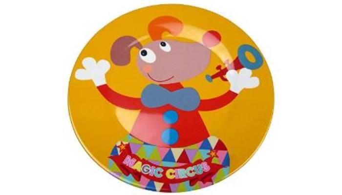Посуда Ebulobo Тарелочка Клоун Джимми ebulobo ложечка зоопарк