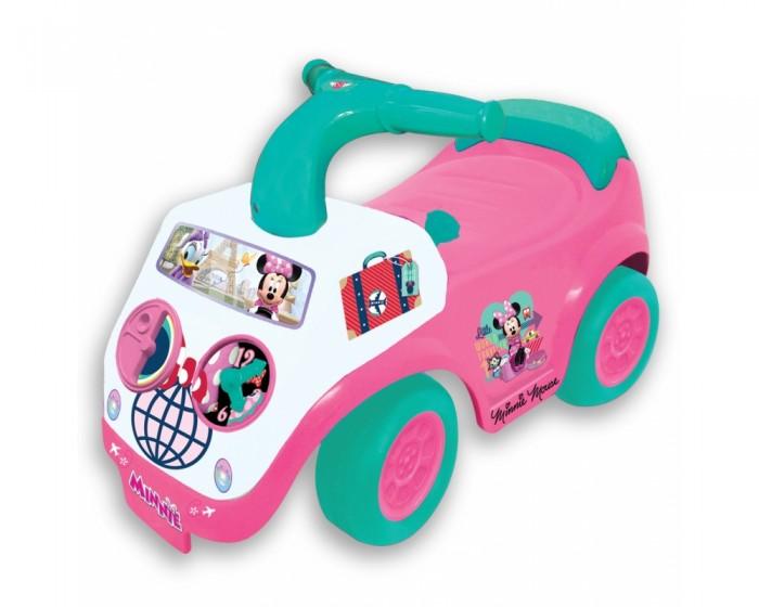 Каталка Kiddieland Пушкар Милашка МинниПушкар Милашка МинниКаталка Kiddieland пушкар Милашка Минни - это автомобиль в привлекательном розовом цвете, украшенный наклейками с изображением крошки Минни.   Малыши будут кататься на машинке, отталкиваясь ножками, а световые и звуковые эффекты и разнообразные кнопочки помогут развить моторику, цветовое и слуховое восприятие.    Особенности:  Корпус автомобиля оборудован разнообразными игровыми элементами, стимулирующими развитие мелкой моторики: разнообразные крутящиеся ручки, кнопочки, рычаги и реалистичный ключ зажигания.   Держаться во время поездки можно за удобный руль Y-образной формы, а извещать прохожих о своём появлении с помощью гудка с мелодией.  Игрушка оснащена звуковыми эффектами, делающими поездки более правдоподобными и захватывающими: при активации ключа зажигания дети услышат реалистичный звук работающего мотора.   Каталка оснащена 4 широкими колесиками, благодаря которым ребенок сможет быстро разгоняться, отталкиваясь при этом ножками.  Во время поездки можно удобно откинуться на высокую спинку, которая одновременно используется как ручка для переноски изделия.  Детский транспорт выполнен из пластика, который устойчив к ударам и не деформируется от них.  Максимальная нагрузка: 30 кг Тип батареек: батарейки АА (в комплекте)<br>