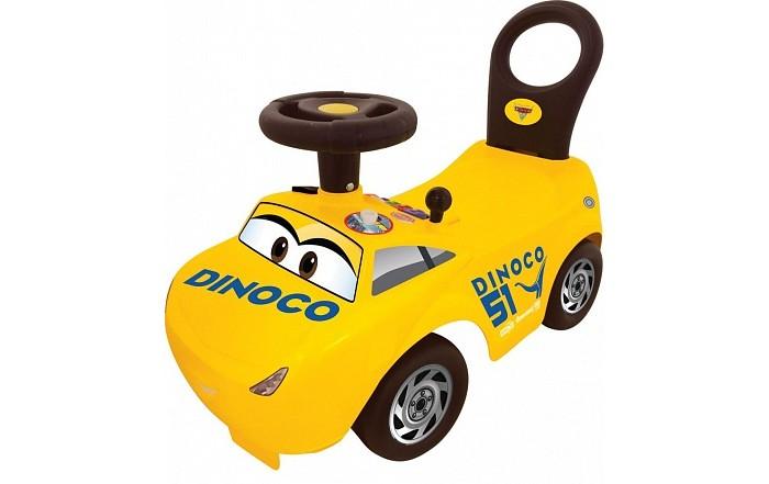 Каталка Kiddieland Пушкар КрузПушкар КрузКаталка Kiddieland пушкар Круз - это автомобиль созданный специально для поклонников захватывающего детского мультфильма «Тачки».    Машинка выполнена в желтом цвете и напоминает одного из героев соответствующего мультфильма - Круза Рамиреза.   Малыши будут кататься на машинке, отталкиваясь ножками, а световые и звуковые эффекты и разнообразные кнопочки помогут развить моторику, цветовое и слуховое восприятие.    Особенности:  Благодаря удобному сиденью и высокой съёмной спинке, ребенок сможет разместиться с комфортом за рулем своего стильного транспортного средства.  Игрушка оснащена интерактивной панелью приборов, с различными кнопками и светящимися огоньками. Также у нее присутствуют звуковые эффекты, которые сделают катание на ней еще более приятным. Например, ребёнок сможет услышать звук работающего двигателя или у него получится сымитировать переключение скоростей с помощью коробки переключения передач. Также у машинки присутствует клаксон.  Удобный руль круглой формы позволяет легко управлять направлением движения машинки, достаточно только повернуть его в необходимую сторону.   Каталка оснащена 4 широкими колесиками, благодаря которым ребенок сможет быстро разгоняться, отталкиваясь при этом ножками.  Детский транспорт выполнен из пластика, который устойчив к ударам и не деформируется от них.<br>