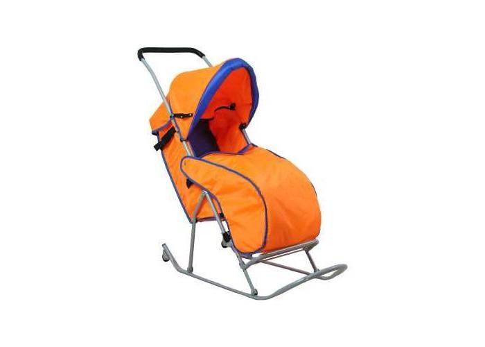 Зимние товары , Санки-коляски Фея Метелица Люкс 1 с тентом арт: 40170 -  Санки-коляски
