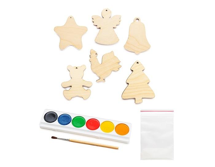 Наборы для творчества Раскрась и подари Набор Светящиеся игрушки на елку