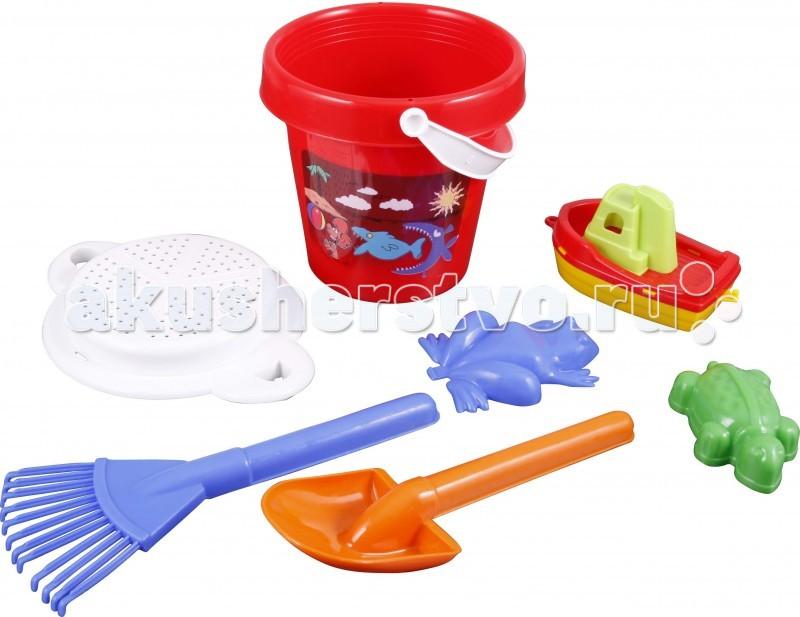 Игрушки для зимы Pilsan Песочный набор (5 изделий в ведре) 3 обнаженный песочный