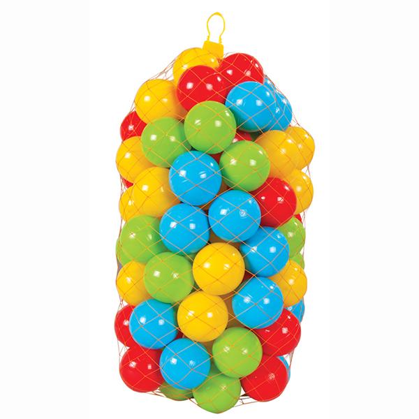 Pilsan Шары в сухой бассейн 90 мм 100 шт в сетиШары в сухой бассейн 90 мм 100 шт в сетиШары в сухой бассейн Pilsan 90мм (100 шт) - подойдут для наполнения надувных бассейнов, игровых домиков и детских манежей.   В набор входит 100 разноцветных ярких шариков, выполненных из высококачественного пластика.   С этими шариками можно играть и в бассейне с водой.   Кроме того, они помогут изучить формы, цвета, свойства предметов.<br>