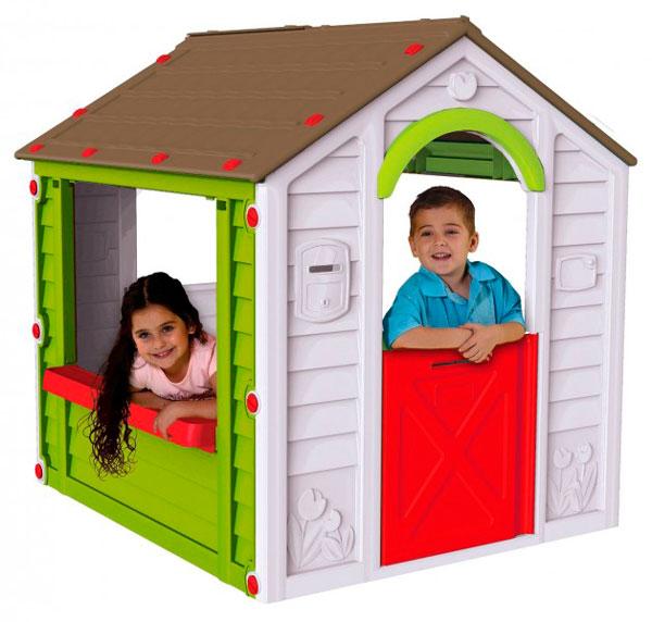 Keter Игровой домик ХолидейИгровой домик ХолидейИгровой домик Keter Холидей - это амечательная игровая зона для ваших детей. Компактная, но при этом вместительная конструкция позволит увлеченно ребенку проводить время. Красочный дизайн порадует глаз. Для сборки не требуется никаких инструментов, а сам процесс займет всего пару минут. Игровой домик с окном и подоконником для цветов.  Повседневный отдых для детей станет комфортней и интересней. Вы сможете расслабиться, зная что ваши дети играют в безопасности, будь это внутри помещения или в вашем дворе.   Особенности: Способен выдерживать дождь, ветер и снег, при этом достаточно легкий, чтобы передвигать его в вашем дворе Прочный материал и продуманный дизайн обеспечат не один год удовольствия. Ваши дети будут иметь возможность приветствовать свою семью, друзей и соседей из любого из трех больших окон или из функциональной двери Удобный красивый вместительный домик для веселой игры на свежем воздухе. Яркие цвета и оригинальный дизайн помогут стать домику достойным элементом вашей игровой площадки Дверь открывается, придавая конструкции удачное сходство с настоящим домом Очень вместительный и гостеприимный - подходит как для одного малыша, так и для коллективных игр Быстро собирается и компактно складывается Все элементы соединяются между собой специальными защелками и гайками, входящими в комплект Не требует специального инструмента для сборки и разборки Может стать любимой игрушкой вашего малыша на даче, загородном доме или в квартире Изготовлен пластмасс, устойчивых к выгоранию, с соблюдением европейского стандарта качества Сборка без инструментов Прочная конструкция<br>