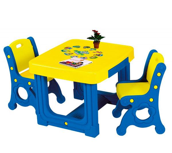 Купить Пластиковая мебель, Haenim Toy Стол и два стула