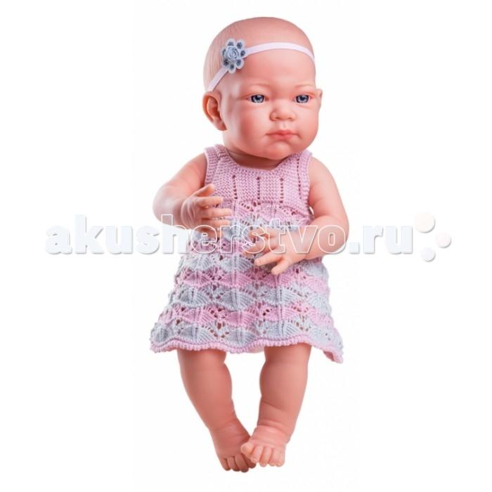 Куклы и одежда для кукол Paola Reina Кукла Бэби в розовом платье 36 см куклы и одежда для кукол vestida de azul оливия в розовом костюме 30 см