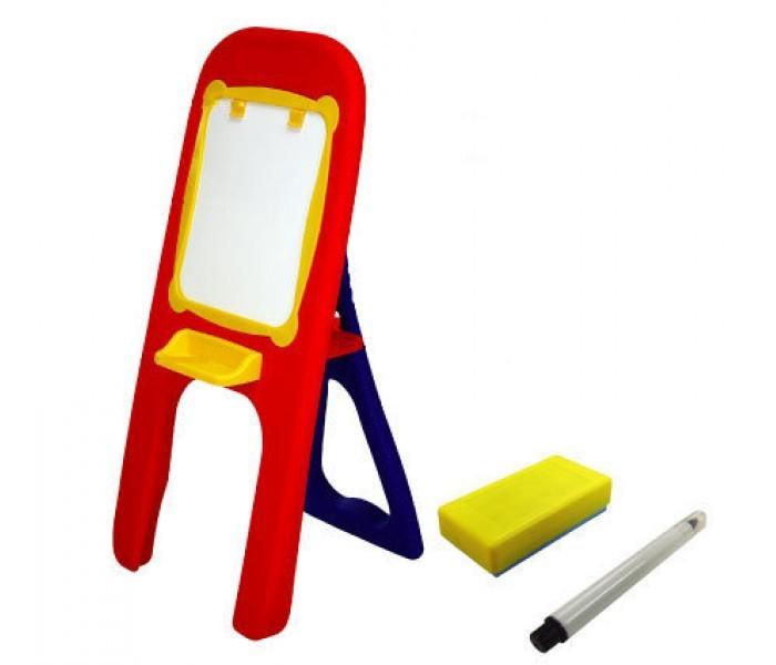 Edu-Play Доска для рисования (мольберт)Доска для рисования (мольберт)Edu-Play Доска для рисования (мольберт) предназначена для рисования и закрепления букв и цифр. В низу доски имеется полочка для карандаша и ластика, которые так же имеются в комплекте.   Между панелью для рисования и каркасом мольберта ость небольшой поднос, куда можно положить инструменты для рисования и письма. Все детали изготовлены из высококачественного прочного пластика.<br>