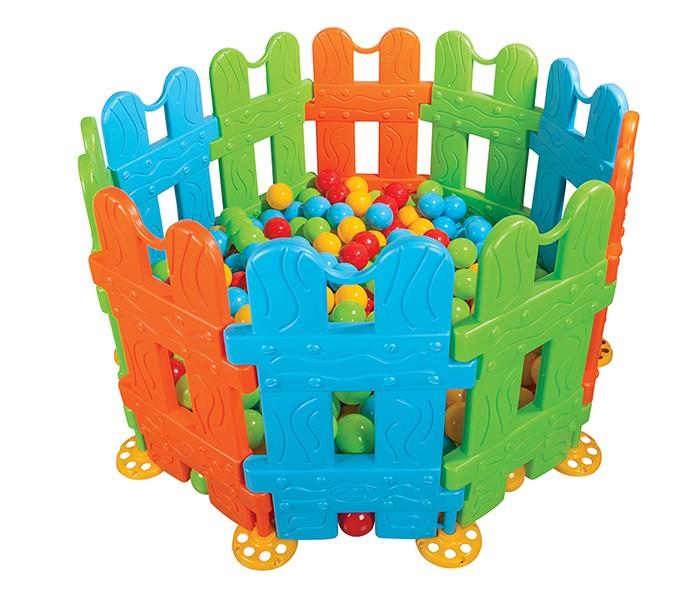 Pilsan Ограждение (игровой манеж)Ограждение (игровой манеж)Ограждение детское Игровой манеж малый - предназначено для детей 1-5 лет. В комплекте 10 секций, 11 фиксирующих ножек.  Позволяет формировать все геометрические фигуры, легкий монтаж без болтов, легкая установка.  Ограждение можно использовать в доме из 4-6 секций или в теплое время года на улице.  Прозрачная изгородь очень удобна для присмотра за малышом и в то же время позволяет ему познавать окружающий мир.  Размеры ограды: 144х144х79.5 см.  Компания Pilsan начала свою историю в 1942 году. Сегодня – это компания-гигант индустрии крупногабаритных детских игрушек, которая экспортирует свою продукцию в 57 стран мира. Компанией выпускается 146 наименований продукции – аккумуляторные и педальные автомобили, велосипеды, развивающие игрушки и аксессуары для детей. Вся продукция Pilsan сертифицирована и отвечает международным стандартам качества.<br>
