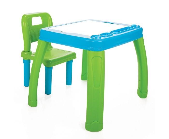 Pilsan Набор Стол+СтулНабор Стол+СтулДетский Набор Стол+Стул Pilsan - набор из стола со съемным поддоном и стула со спинкой для детей от 3 лет. Очень удобный набор, который будет служить вашему ребенку на протяжении нескольких лет. У малыша теперь будет собственное место для занятий творчеством, игр и обучения, яркое и удобное.   Предназначен для детей в возрасте от 3 лет Максимальная Нагрузка 35 кг Место для хранения книг и тетрадок Складной стул Обеспечивает ребенку удобную обстановку для занятий Эргономичный дизайн Легкая сборка Цвета в ассортименте  Размеры стола: ширина - 56 см, длина - 68 см, высота - 51.5 см.  Компания Pilsan начала свою историю в 1942 году. Сегодня – это компания-гигант индустрии крупногабаритных детских игрушек, которая экспортирует свою продукцию в 57 стран мира. Компанией выпускается 146 наименований продукции – аккумуляторные и педальные автомобили, велосипеды, развивающие игрушки и аксессуары для детей. Вся продукция Pilsan сертифицирована и отвечает международным стандартам качества.<br>