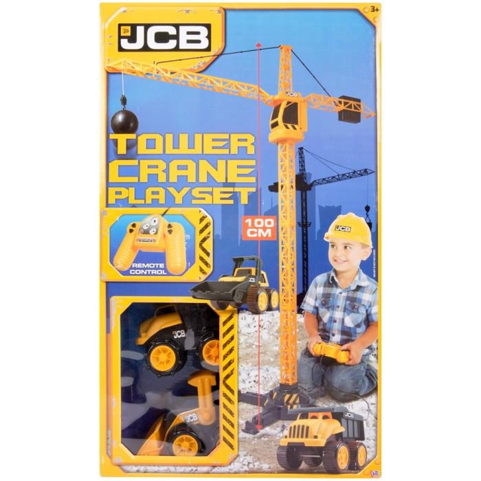 Игровые наборы JCB Строительный кран на дистанционном управлении с машинками и аксессуарами, Игровые наборы - артикул:402679