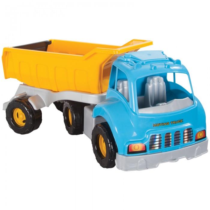 Pilsan Грузовик Moving TruckГрузовик Moving TruckГрузовик Moving Truck - яркая игрушка для игр на улице.   Большой грузовик привлечет детское внимание и позволит придумать много увлекательных игр. При помощи грузовика ребенок сможет активно развивать воображения, сочиняя все новые игры, а также координацию движений и восприятие цветов.   Грузовик имеет большие колеса и откидной кузов, в который можно положить мелкие предметы или насыпать песок.  Максимальная нагрузка 5 кг. Модель имеет большие рельефные пластиковые колеса, которые отличаются легким ходом даже по песку.  Откидной кузов. Материал: прочный пластик. Размеры: 43.5х70х49 см.  Цвета в ассортименте.  Компания Pilsan начала свою историю в 1942 году. Сегодня – это компания-гигант индустрии крупногабаритных детских игрушек, которая экспортирует свою продукцию в 57 стран мира. Компанией выпускается 146 наименований продукции – аккумуляторные и педальные автомобили, велосипеды, развивающие игрушки и аксессуары для детей. Вся продукция Pilsan сертифицирована и отвечает международным стандартам качества.<br>